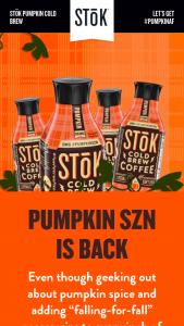 Danone Us – Stok Pumpkin Cold Brew – Win one of the three different designs at random