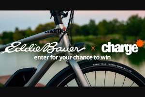 Eddie Bauer – Charge Bike Giveaway – Win of A Charge City Electric Bike and a $1000 Eddie Bauer gift card