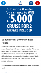 Expedia Cruises – Princess Cruises We're Back – Win one (1) 7-night cruise for two (2) persons to the Caribbean or Mexico on one of Princess Cruises' ships