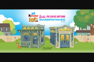 """Ferrero Kinder Joy – Barbie """"you Can Be Anything"""" Sweepstakes"""