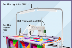 Grace Frame – Q'nique 15r Quilting System Giveaway – Win Win a Q'nique 15R Quilting System