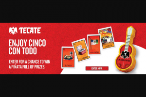 Heineken USA – Tecate Futbol  – Win Prize (7) Seven (7) grand prizes will be awarded in the Sweepstakes