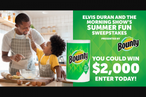 Iheart Elvis Duran Show – Summer Fun – Win in the amount of $2000.00 made payable to the Winner ARV $2000.00).