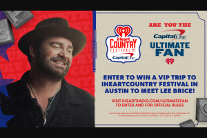 Iheartmedia – Iheartcountry Festival Presented By Capital One Ultimate Fan – Win a trip for two (2) to Austin