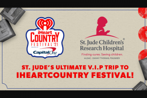 Iheartmedia – Iheartradio And St Jude Children's Research Hospital We Won't Stop – Win a trip for two (2) to Austin