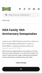 Ikea – Family Anniversary – Win one IKEA Prize box consisting of one 5 oz