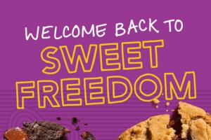 Insomnia Cookies – Sweet Freedom – Win (i) one (1) Insomnia Cookies gift card