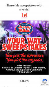 Jersey Mike's – Your Way Sweepstakes