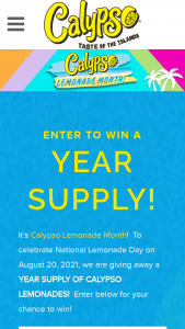 King Juice – Calypso Lemonade Month Sweepstakes