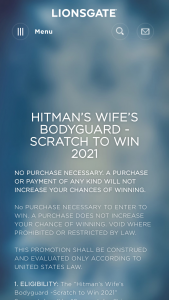 Lionsgate – Hitman's Wife's Bodyguard Scratch To Win 2021 – Win trip for 2 for 4 nights to the all-inclusive Hard Rock Hotel & Casino Punta Cana