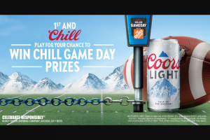 Molson Coors – Coors Light Football 2021  – Win least twenty-one (21) years of age or older – to attend a regular season football home game in Fort Worth Texas and two (2) passes for an on-field pre-game visit