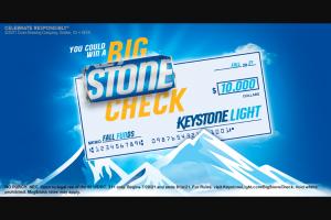 Molson Coors – Keystone Light Big Stone Check Sweepstakes