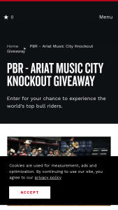 Nashville Convention & Visitors Corp – Pbr Ariat Music City Knockout Giveaway – Win PBR Family Pack with Elite Experience     Four (4) tickets to Professional Bull Riders event Saturday