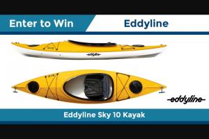 Paddling – Eddyline – Win 1 Eddyline Sky 10 Kayak Approximate Retail Value $1199.00 USD
