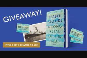Penguin Random House – A Long Petal Of The Sea Winnipeg – Win 1 Copy of A Long Petal of the Sea by Isabel Allende (Prize Approximate Retail Value $17) 1 Matching magnet (Prize Approximate Retail Value $2)