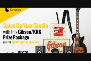 Premier Guitar – Gibson Les Paul Studio Giveaway Sweepstakes