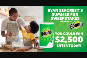 Ryan Seacrest – Summer Of Fun – Win (1) check in the amount of $2500 made payable to the Winner