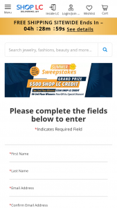 Shop Lc – End Of Summer Sweepstakes