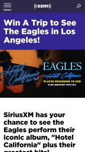 """Siriusxm – Eagles """"hotel California"""" 2021 Tour Sweepstakes"""