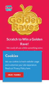 Stemilt Growers – Golden Raves Instant Win  Sweepstakes