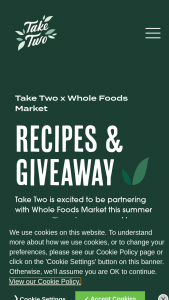 Take Two  Whole Foods Market – Summer Giveaway Sweepstakes