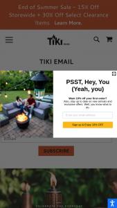 Tiki – Self-Care Backyard Makeover Sweepstakes