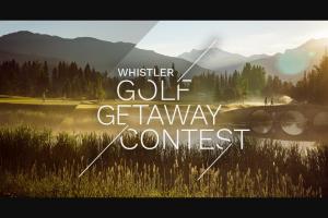 Tourism Whistler – Golf Getaway Contest Sweepstakes