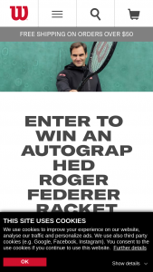Wilson – Happy 40th Birthday Roger – Win consist of one (1) Wilson Pro Staff RF97 Tennis Racket autographed by Roger Federer along with certificate of authenticity