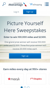 American Airlines – Picture Yourself Here – Win AAdvantage® miles will be credited to the AAdvantage® account of the winner