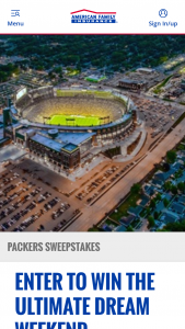 American Family Insurance – Green Bay Packers Dream Weekend Sweepstakes