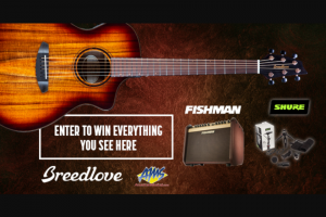 American Musical Supply – Breedlove Pursuit Exotic S Giveaway With Fishman & Shure Sweepstakes