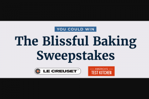 America's Test Kitchen – Blissful Baking – Win 7 ¼ qt