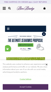 Ben Bridge Jeweler's – Ultimate Seahawks Proposal – Win PRIZE (1) Bella Ponte Custom Engagement Ring with an Ikuma Canadian Diamond Center valued at $30000.00 and one Seattle Seahawks VIP Proposal Experience at Lumen Field valued at $4750.00.