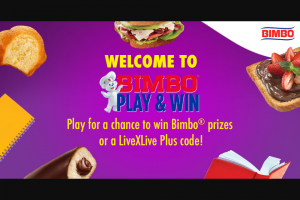 Bimbo Bakeries – Play & Win Instant Win Game – Win a FREE one-month subscription to LiveXLive Plus