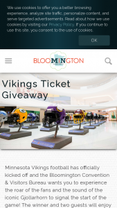 Bloomington Convention & Visitors Bureau – 2021 Vikings Tickets Giveaway – Win Minnesota Vikings vs Detroit Lions tickets to October 10 2021 @ 12 00pm game at US Bank Stadium in Minneapolis MN Total ARV $1500.00 USD