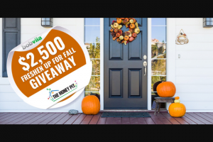 Bob Vila – $2500 Freshen Up For Fall Giveaway With The Money Pit Podcast – Win one (1) prize from The Money Pit Podcast