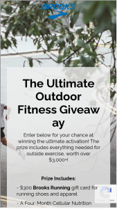 Brooks Sports – The Ultimate Outdoor Activity Giveaway Sweepstakes