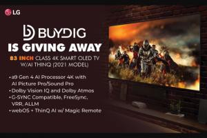 Buydig – Lg 83 Inch Class 4k Smart Oled TV – Win Smart OLED TV w/AI ThinQ (2021 Model) is $5999.99