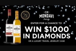 Ck Mondavi – Diamond Anniversary – Win a $1000 gift card to a national jewelry retailer