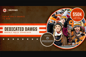 Cleveland Browns – Crosscountry Mortgage Dedicated Dawgs Sweepstakes