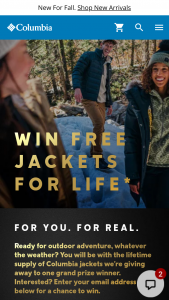 Columbia – Omni-Heat Infinity – Win form of 20 $500 Columbia gift cards which can be distributed to friends and family (terms and conditions apply).