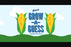 Culver's – Grow A Guess Instant Win Game And – Win (1) one Culver's hat one Culver's mug three T-Shirts (all size large) and $500 worth of Culvers gift cards