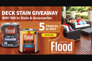 Do It Best Corp – Flood Deck Stain Giveaway – Win for any reason or c) has violated therulesof the giveaway