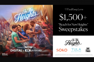 Findkeeplove – Reach For New Heights Sweepstakes