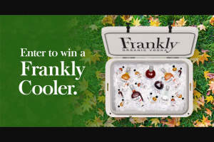 Frankly Vodka – Cooler Sweepstakes