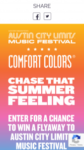 Gildan – Comfort Colors Festival Flyaway Sweepstakes