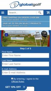 Globalgolf – 4 Prizes Sweepstakes