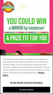 """Gruma Mission Foods – Get The Flax Fuel  Fitness – Win a Lululemon """"The Mirror"""" Gym with an ARV of $1495."""