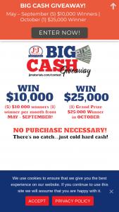 J&j Materials – Big Cash Giveaway – Win – 1 winner drawn in November 2021