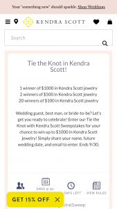 Kendra Scott – Tie The Knot With Kendra Scott Sweepstakes